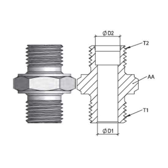 Metrik Blok Nipel Bağlantılar resmi